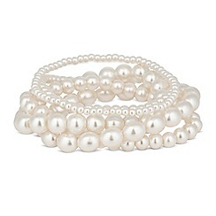 Mood - Set of five pearl stretch bracelets