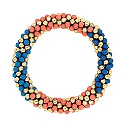 Mood - Multicoloured metal ball twist bracelet
