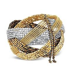 Mood - Metallic bugle bead cuff