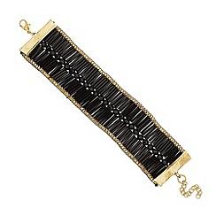 Mood - Jet bugle tube bracelet