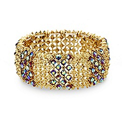 Mood - Aurora borealis crystal filigree stretch bracelet