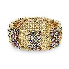 Mood - Aurora borealis crystal filigree stretch bracelet