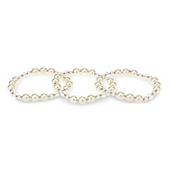 Mood - Set of three pearl stretch bracelets
