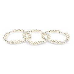 Mood - Set of three pearl stretch bracelets