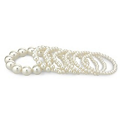 Mood - Mixed cream pearl bumper bracelet pack