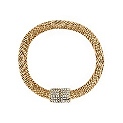 Mood - Crystal magnetic gold mesh bracelet