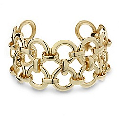 Mood - Linked gold ring cuff bracelet