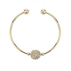 Mood - Crystal ball fine gold cuff bracelet