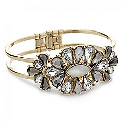 Mood - Frosted cluster stone set hinged bangle