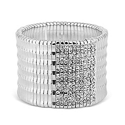 Mood - Diamante crystal encased bar stretch bracelet