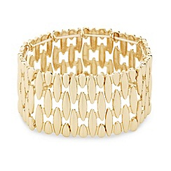 Mood - Polished gold panel stretch bracelet