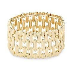 Mood - Polished gold panel stretch bracelet