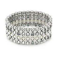 Mood - Pearl and bead encased bar stretch bracelet