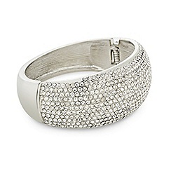 Mood - Crystal embellished silver dome bangle