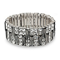 Mood - Statement grey crystal stick stretch bracelet