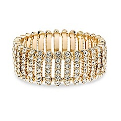 Mood - Diamante crystal bar stretch bracelet