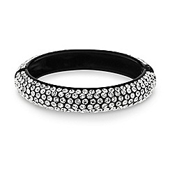 Mood - Diamante crystal embellished jet bangle