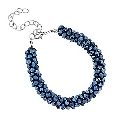 Mood - Blue facet bead cluster bracelet