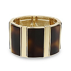 Mood - Tortoiseshell effect bar stretch bracelet