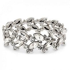 Mood - Navette and circular stone set stretch bracelet