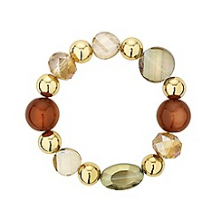 Mood - Chunky bead and gold ball stretch bracelet