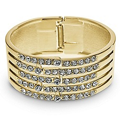 Mood - Crystal embellished gold panelled bangle
