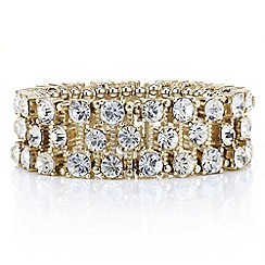 Mood - Crystal encased gold stick stretch bracelet