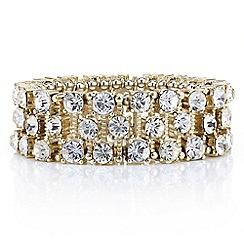 Mood - Crystal encased gold stick stretch bracelet