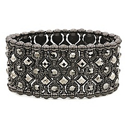 Mood - Hematite stone lattice style stretch bracelet