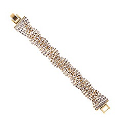 Mood - Diamante crystal gold twist bracelet