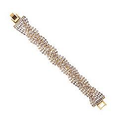Mood - Diamante crystal gold twist bracelet