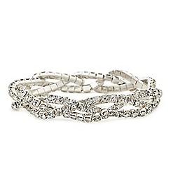 Mood - Diamante crystal twist stretch bracelet
