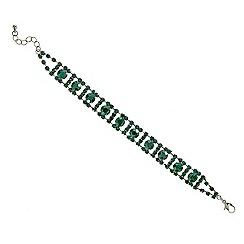 Mood - Statement green diamante embellished bracelet