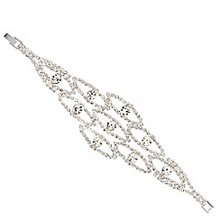 Mood - Diamante crystal loop link bracelet
