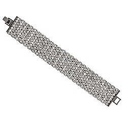 Mood - Diamante crystal hematite bar bracelet