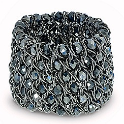 Mood - Hematite bead woven stretch bracelet