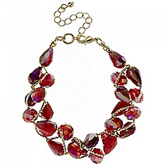 Mood - Red tonal bead twist bracelet