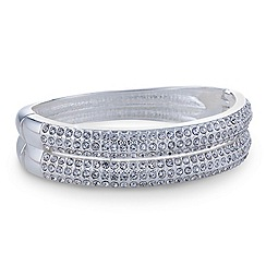 Mood - Multirow crystal stone encased bangle