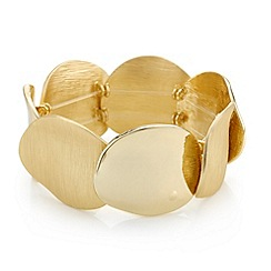Mood - Textured gold disc stretch bracelet