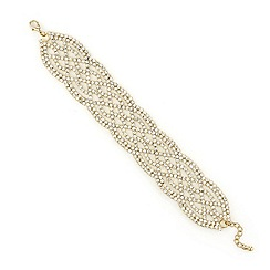 Mood - Gold diamante encased crystal lattice bracelet