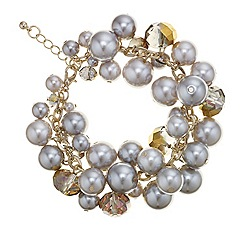 Mood - Pearl and facet bead cluster bracelet
