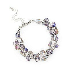 Mood - Purple tonal facet bead twist bracelet