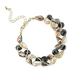 Mood - Jet tonal facet bead twist bracelet