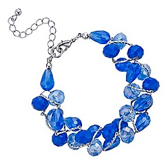 Mood - Blue tonal facet bead twist bracelet