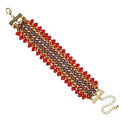 Mood - Plaited bead edge bracelet