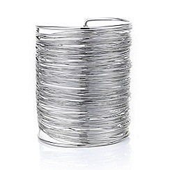Mood - Silver textured wire cuff bracelet