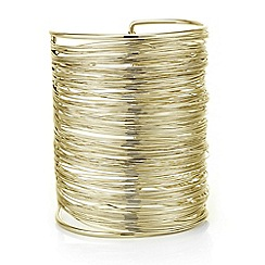 Mood - Gold textured wire cuff bracelet
