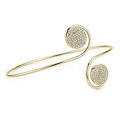 Mood - Gold pave disc arm cuff