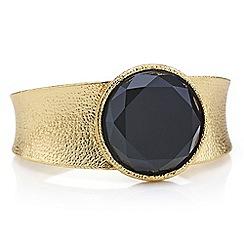 Mood - Onyx round stone cuff bracelet