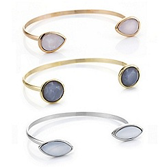 Mood - Multi tone three pack stone bangle set